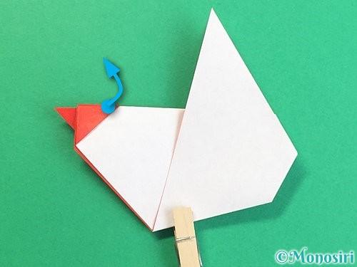 折り紙でにわとりの折り方手順25