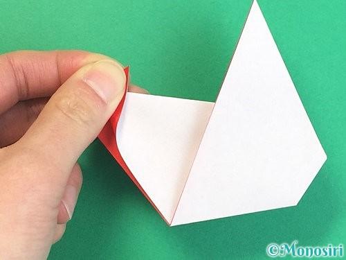 折り紙でにわとりの折り方手順27