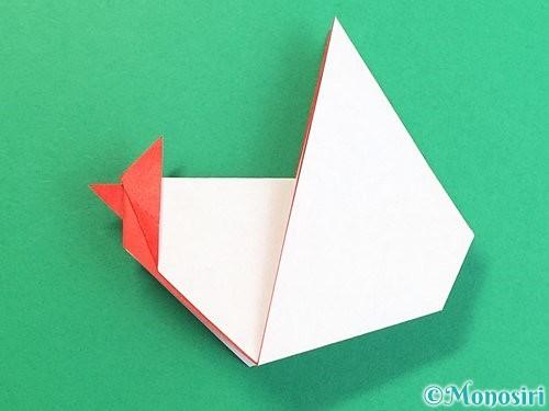 折り紙でにわとりの折り方手順28