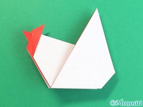 折り紙でにわとりの折り方手順29