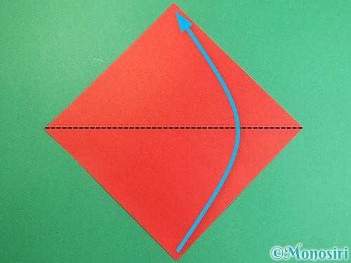 折り紙で立体的なにわとりの折り方手順1