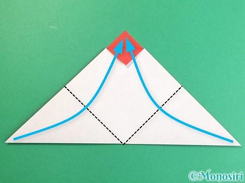 折り紙で立体的なにわとりの折り方手順5