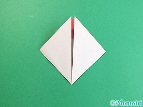 折り紙で立体的なにわとりの折り方手順6
