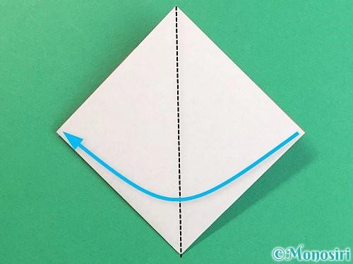 折り紙で立体的なにわとりの折り方手順8