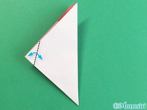 折り紙で立体的なにわとりの折り方手順10