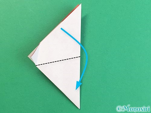 折り紙で立体的なにわとりの折り方手順12