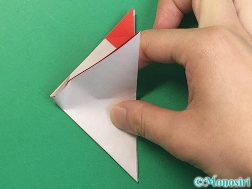 折り紙で立体的なにわとりの折り方手順13