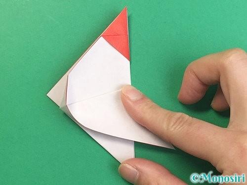 折り紙で立体的なにわとりの折り方手順14