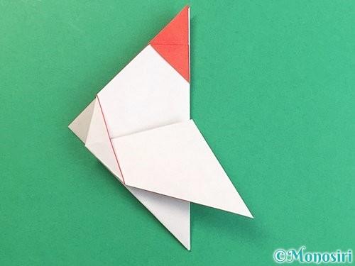 折り紙で立体的なにわとりの折り方手順15