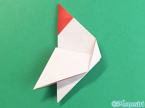 折り紙で立体的なにわとりの折り方手順16