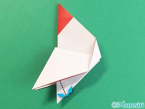 折り紙で立体的なにわとりの折り方手順17
