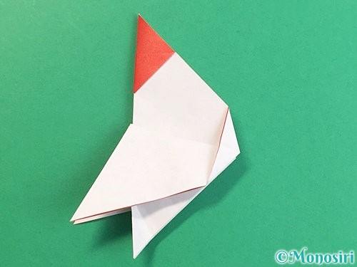 折り紙で立体的なにわとりの折り方手順18