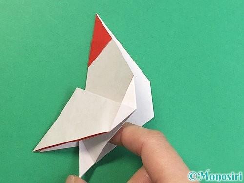 折り紙で立体的なにわとりの折り方手順19
