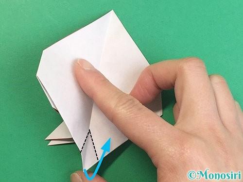 折り紙で立体的なにわとりの折り方手順20