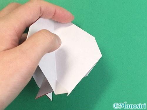 折り紙で立体的なにわとりの折り方手順21