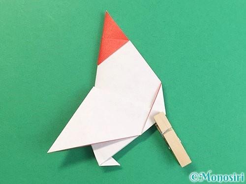 折り紙で立体的なにわとりの折り方手順22