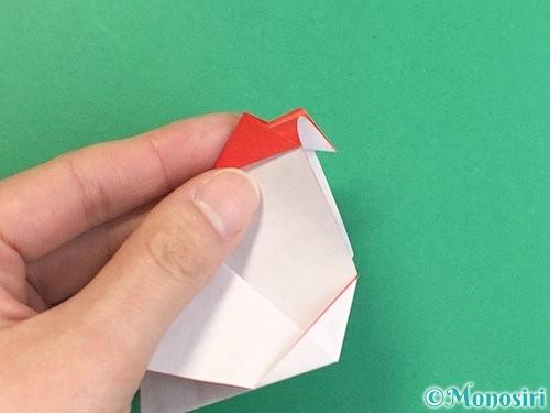 折り紙で立体的なにわとりの折り方手順25