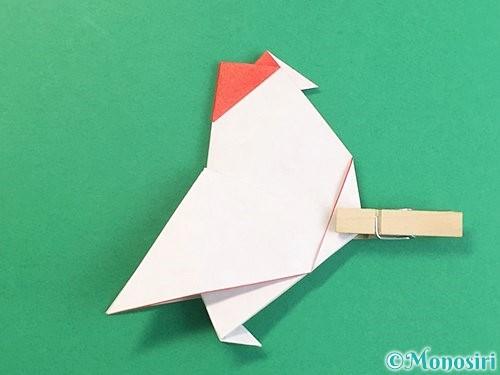 折り紙で立体的なにわとりの折り方手順26