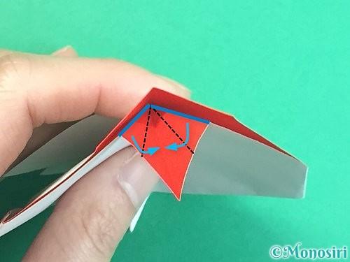 折り紙で立体的なにわとりの折り方手順27