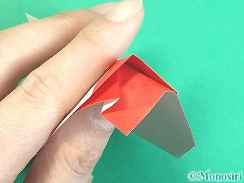 折り紙で立体的なにわとりの折り方手順28