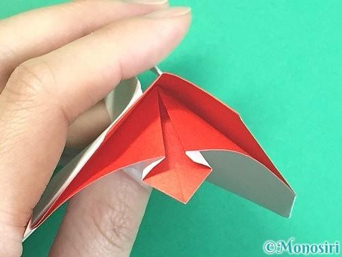 折り紙で立体的なにわとりの折り方手順29