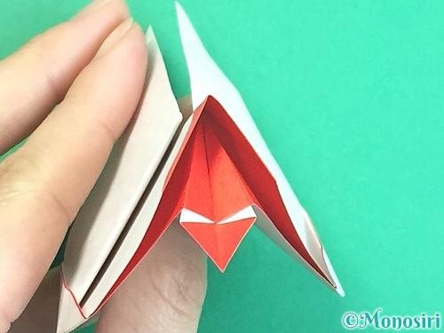 折り紙で立体的なにわとりの折り方手順31
