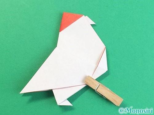 折り紙で立体的なにわとりの折り方手順32