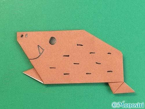 折り紙で猪の折り方手順28