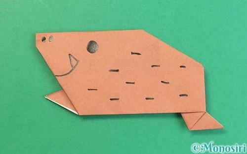 折り紙で折った猪