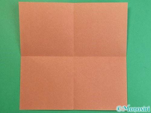 折り紙で立体的な猪の折り方手順2