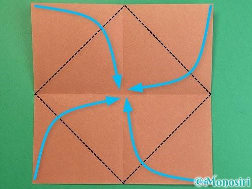 折り紙で立体的な猪の折り方手順3