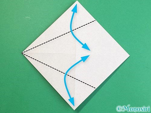 折り紙で立体的な猪の折り方手順6