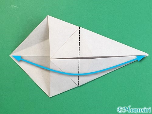 折り紙で立体的な猪の折り方手順10