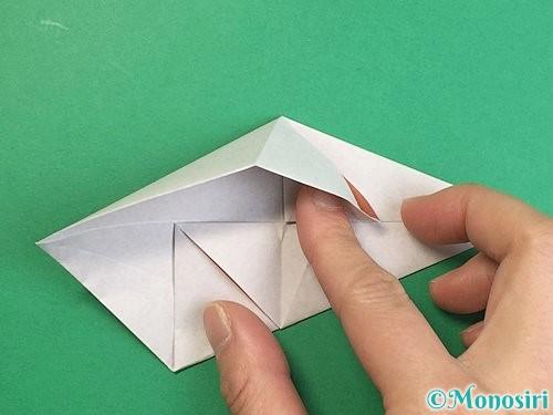 折り紙で立体的な猪の折り方手順13