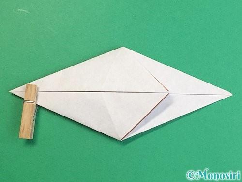 折り紙で立体的な猪の折り方手順15