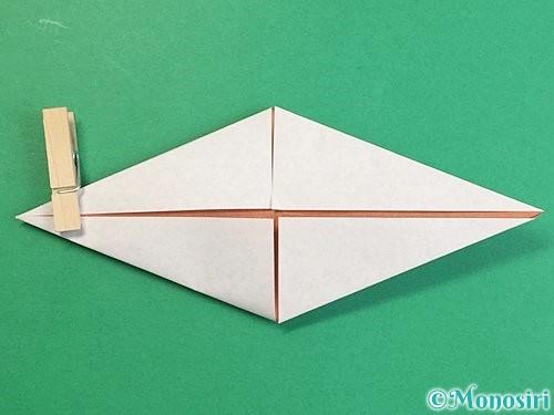 折り紙で立体的な猪の折り方手順16