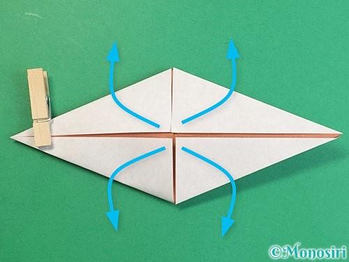 折り紙で立体的な猪の折り方手順17