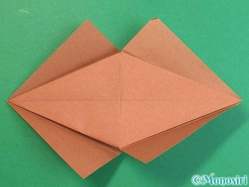 折り紙で立体的な猪の折り方手順18