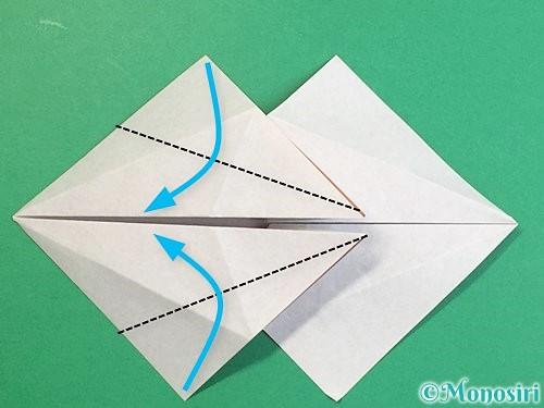 折り紙で立体的な猪の折り方手順20
