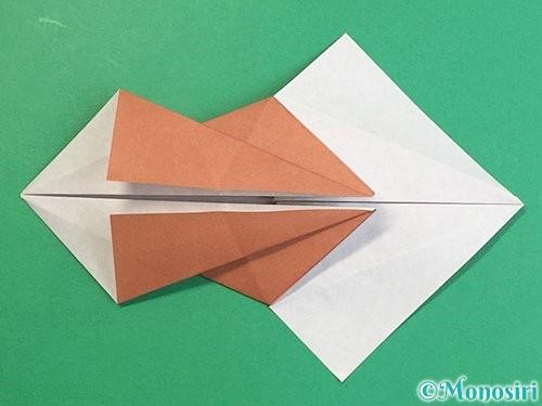 折り紙で立体的な猪の折り方手順21