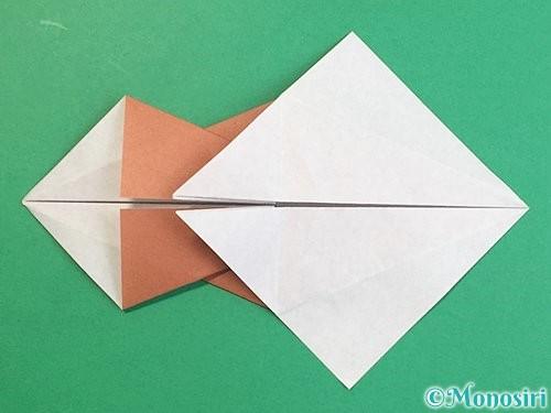 折り紙で立体的な猪の折り方手順23