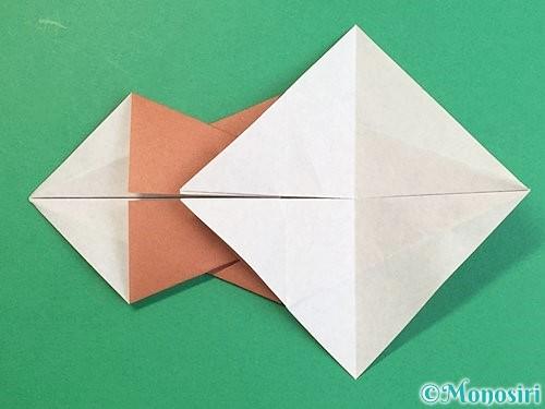 折り紙で立体的な猪の折り方手順25