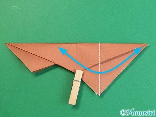 折り紙で立体的な猪の折り方手順28