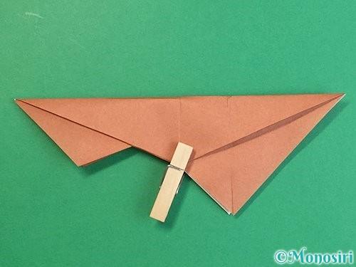 折り紙で立体的な猪の折り方手順29