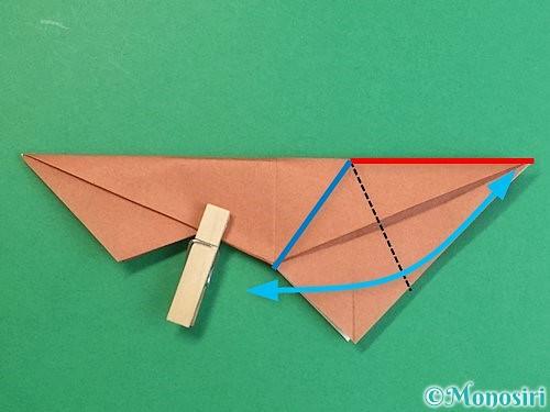 折り紙で立体的な猪の折り方手順30