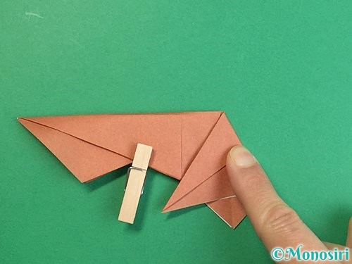 折り紙で立体的な猪の折り方手順31
