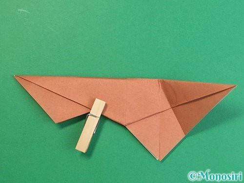 折り紙で立体的な猪の折り方手順32