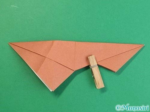 折り紙で立体的な猪の折り方手順33