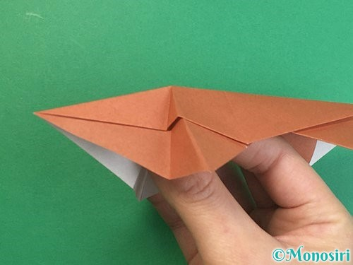 折り紙で立体的な猪の折り方手順35