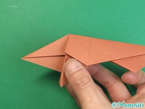 折り紙で立体的な猪の折り方手順36